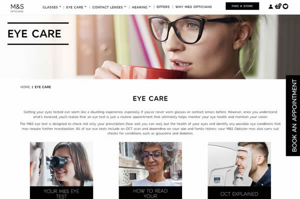 Top 5 reasons to love our new M&S Opticians website
